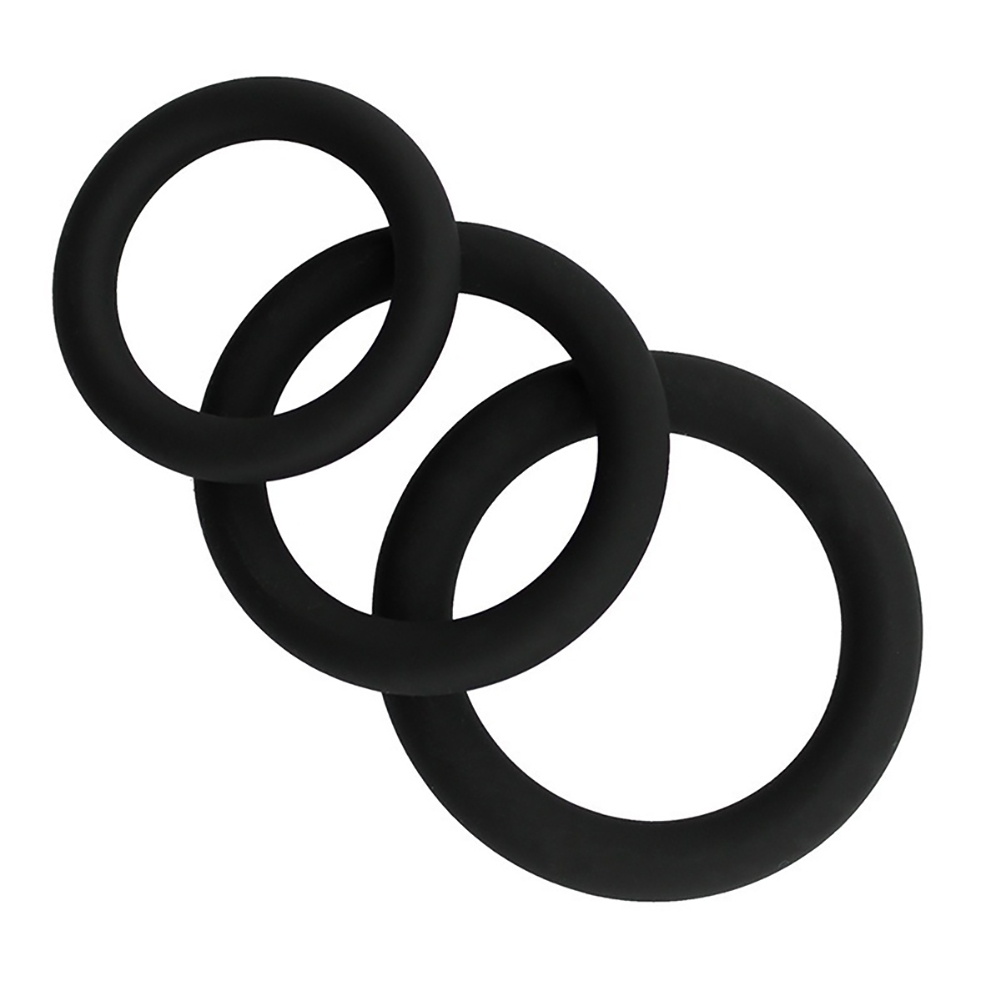 Novelty Colorul Rubber Delay Rings Cocking Ring for Man Male black