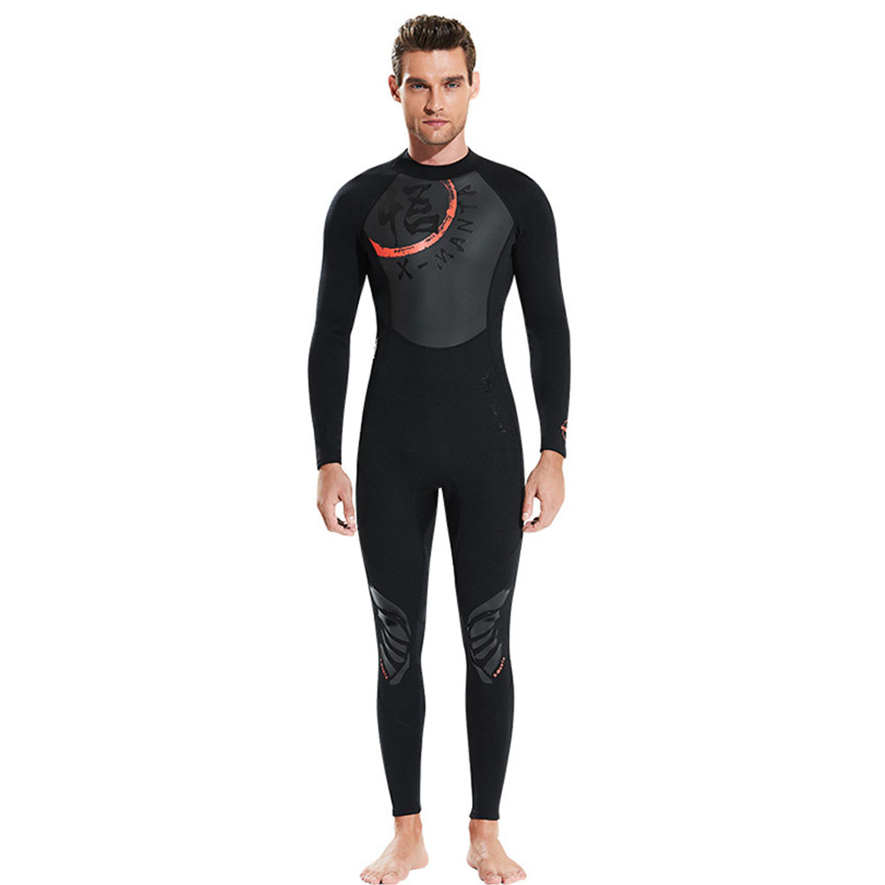 Chinese Style Diving Suit 1.5MM Warm Siamese Long Sleeve Surfing Jellyfish Suit