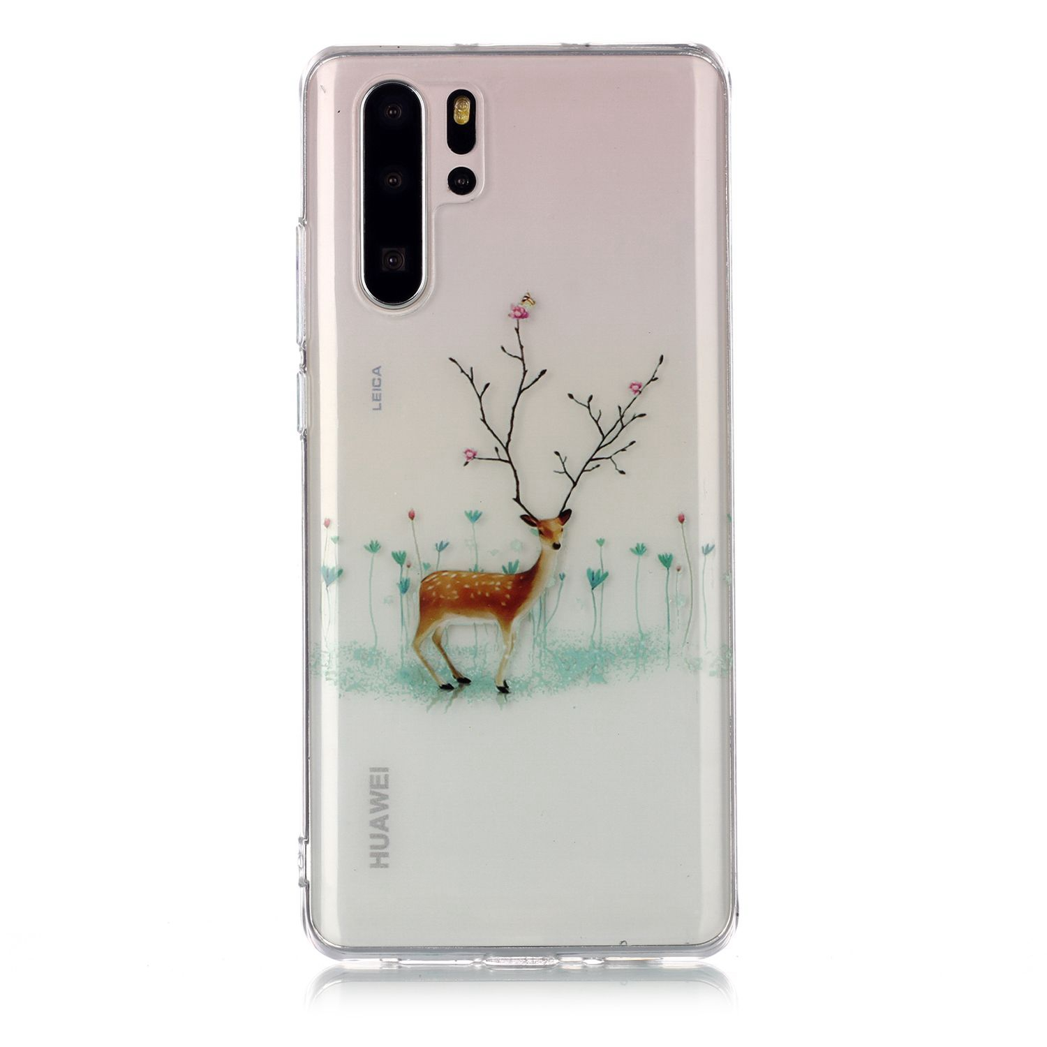For HUAWEI P30 Pro Christmas Phone Case Protective Shell Super Soft TPU Smartphone Cover Anti-scratch Anti-fall Protection Cover
