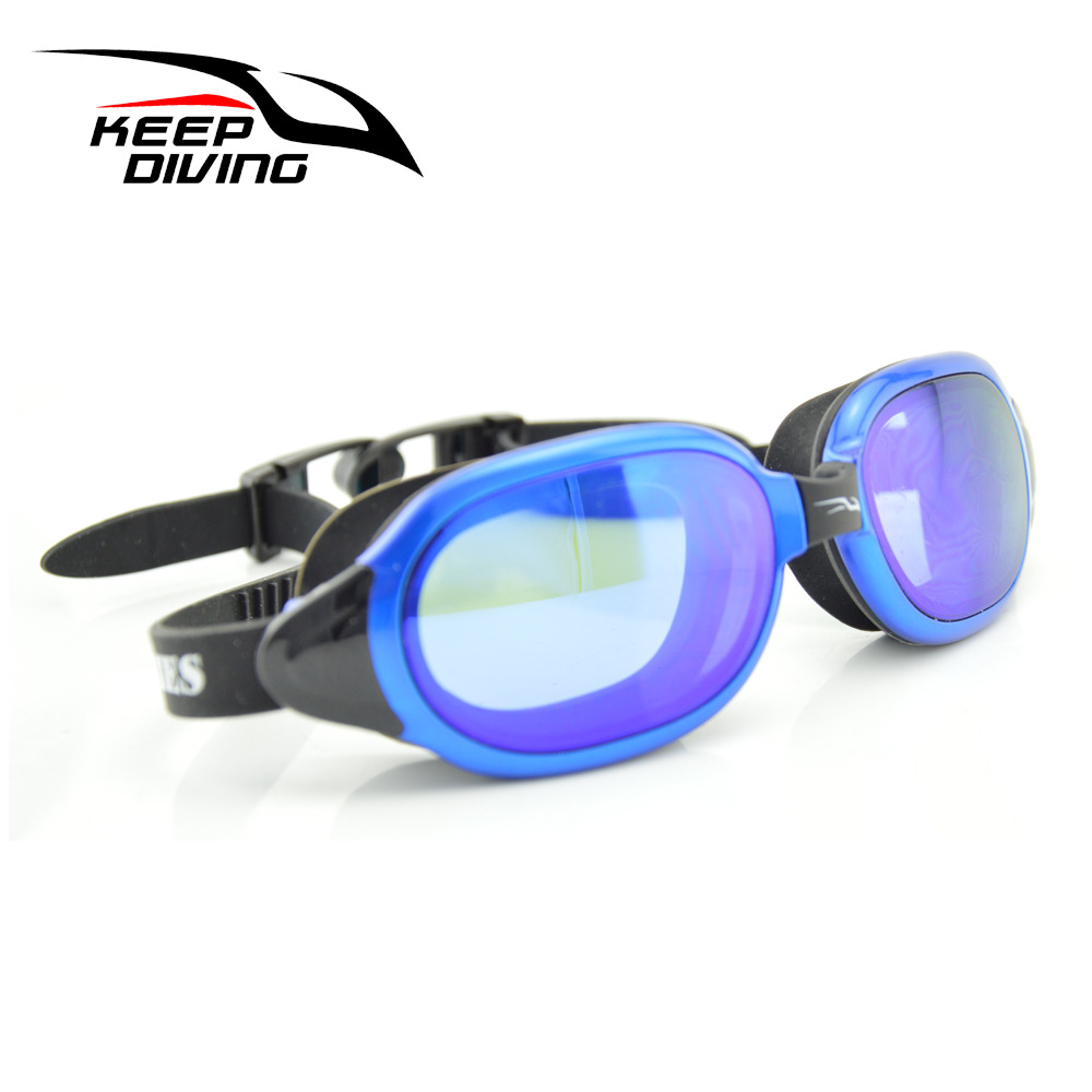 Professional Silicone myopia Swimming Goggles Anti-fog UV Swimming Glasses for Men Women diopter Sports Eyewear sapphire