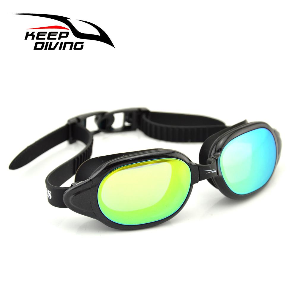 Professional Silicone myopia Swimming Goggles Anti-fog UV Swimming Glasses for Men Women diopter Sports Eyewear black