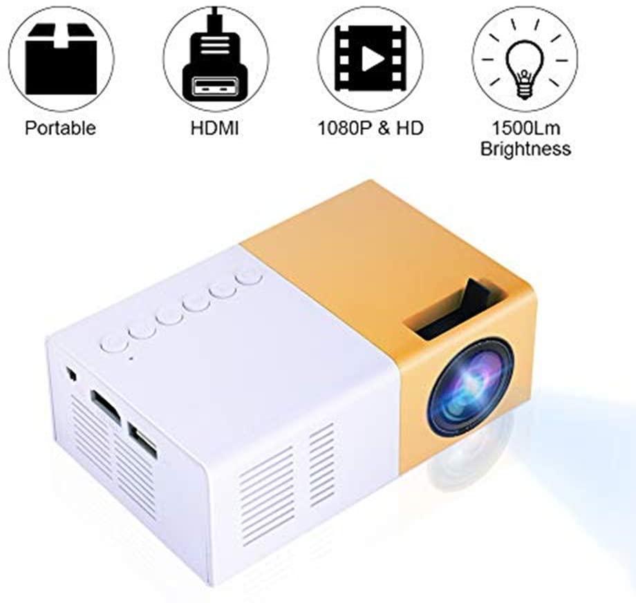 Mini Led Projector Mini Home Cinema Projector Portable Led Projector Hd 1080p Multimedia Player EU Plug