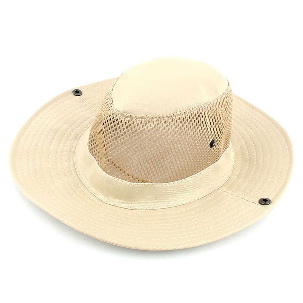 Outdoor Sunscreen Fishing Cap Breathable Outdoor Shade Fisherman Hat Tourism Mountaineering Camping Hat Beige_M