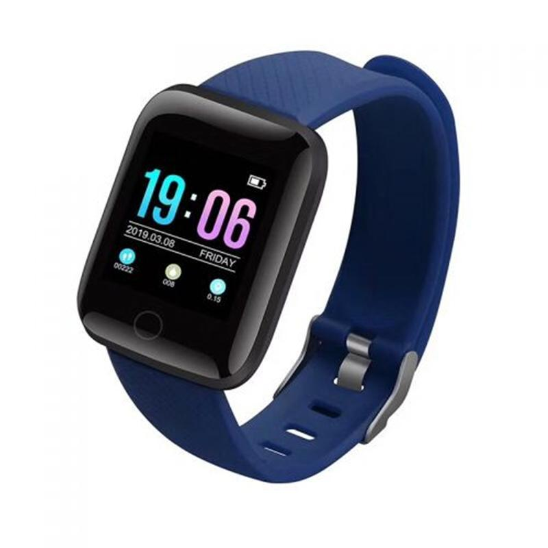 D13 Smartwatch Heart Rate Blood Pressure Monitor Tracker Fitness Watch Smart Wristband Sport for Android iOS blue