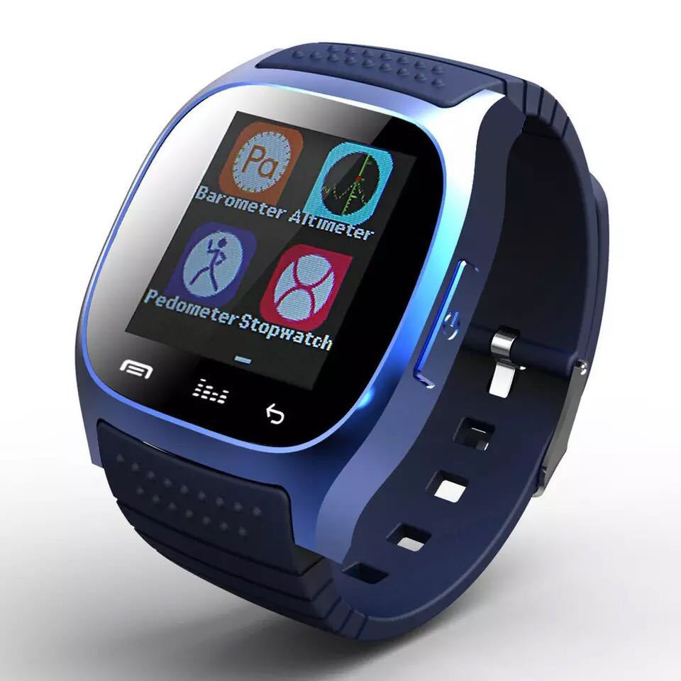 M26 1.5 inch Screen Step Count Smart Bluetooth Watch Wristwatch black