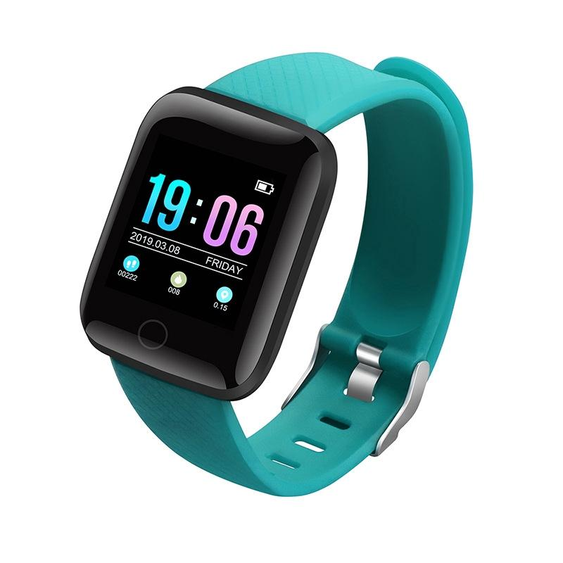 D13 Smartwatch Heart Rate Blood Pressure Monitor Tracker Fitness Watch Smart Wristband Sport for Android iOS green