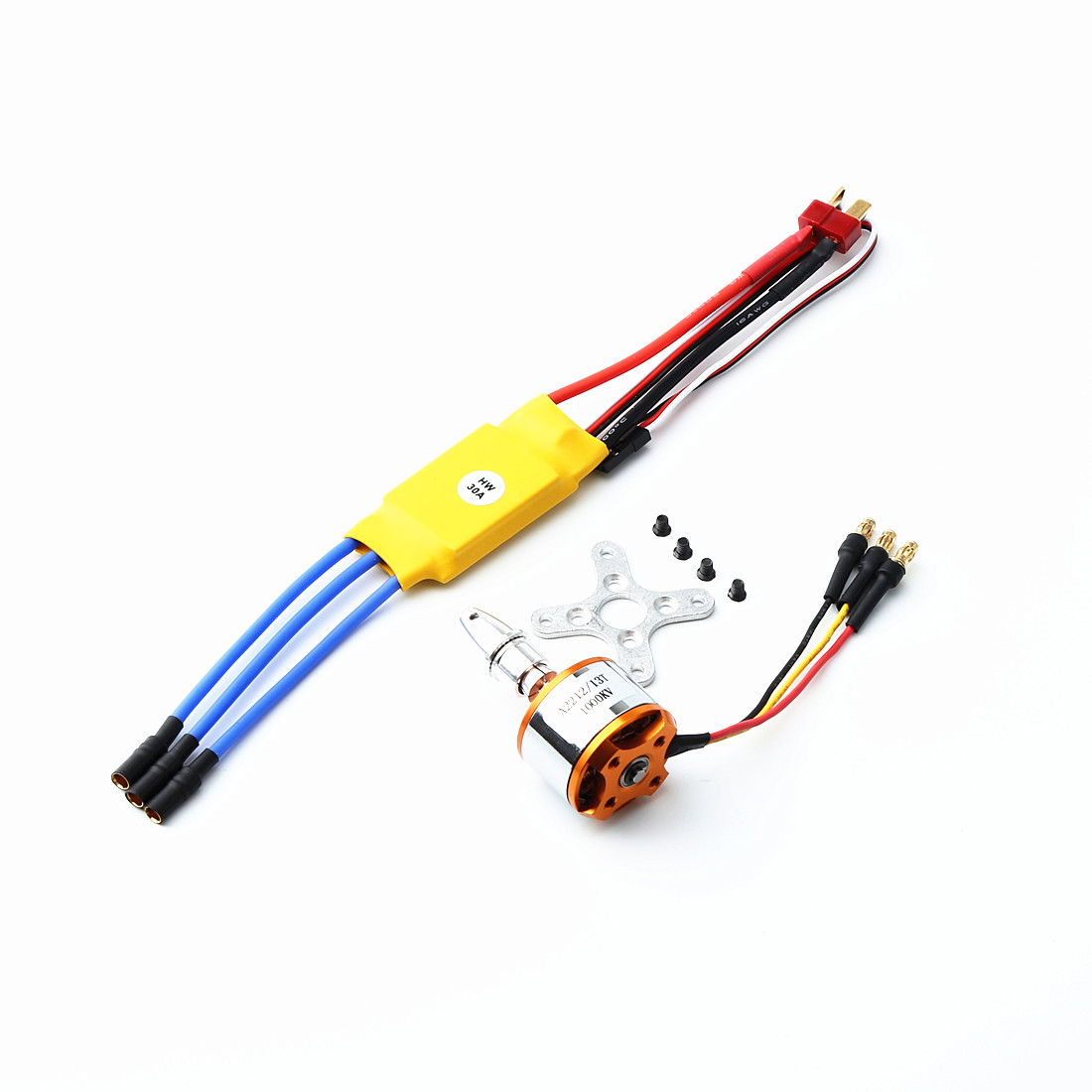 A2212 2212 1000KV/2200KV/1400KV Brushless Motor 30A/40A ESC With T Plug and 3.5mm Banana Connectors for RC Fixed Wing Plane Helicopter