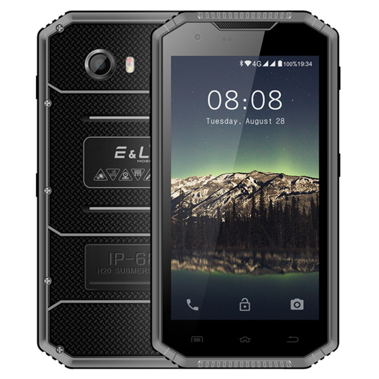 buy online 26e7d 99f9e EL W7S IP68 Waterproof Mobile Phone - 2GB RAM 16GB ROM, 5.0 Inch HD,  Android 7.0 MT6737 Quad Core, 8.0MP+5.0MP - Black