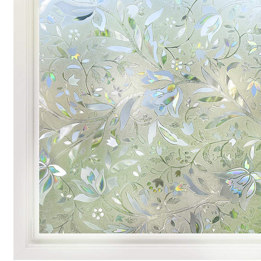 3D Window Cling Tulip Refraction Glue-Free Electrostatic for Privacy UV Protection 45x100cm
