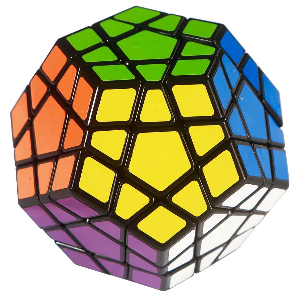 [US Direct] Shengshou Megaminx Brain Teaser Magic Cube Speed Twisty Puzzle Toy Black