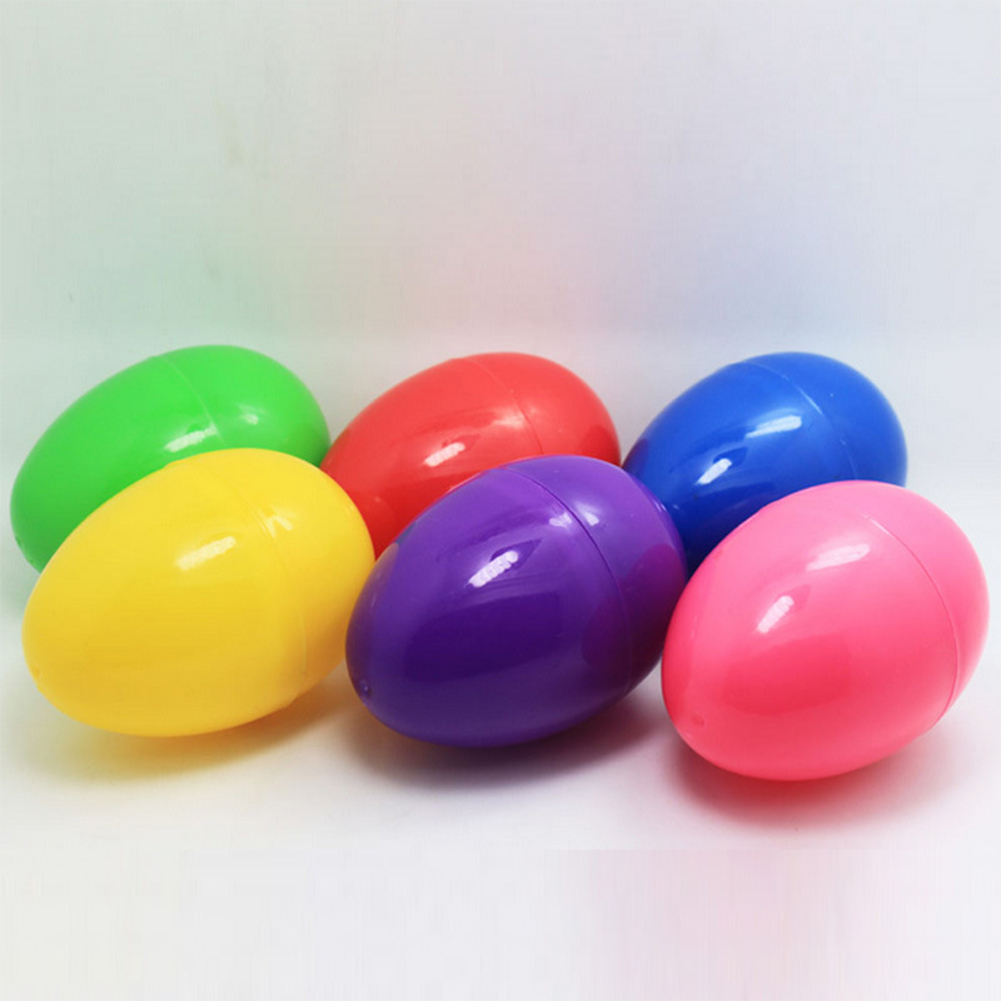 12Pcs Bright Colorful Open Easter Eggs