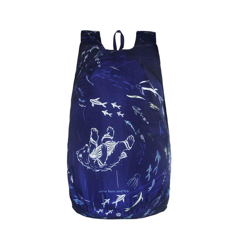 Outdoor Lightweight printing Foldable Backpack Travel Waterproof Ultralight Backpacks Folding bag 5