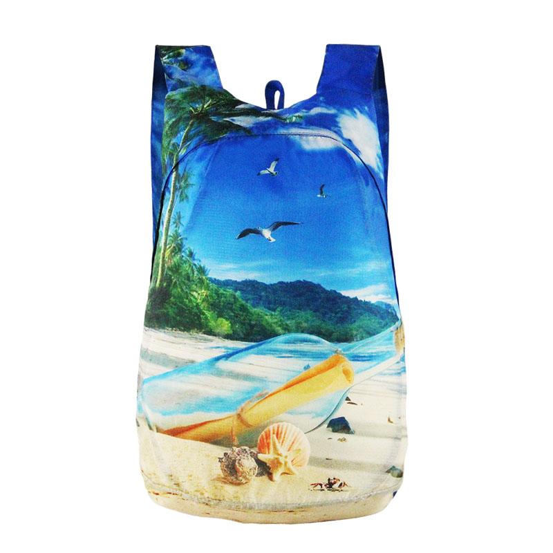 Outdoor Lightweight printing Foldable Backpack Travel Waterproof Ultralight Backpacks Folding bag 4