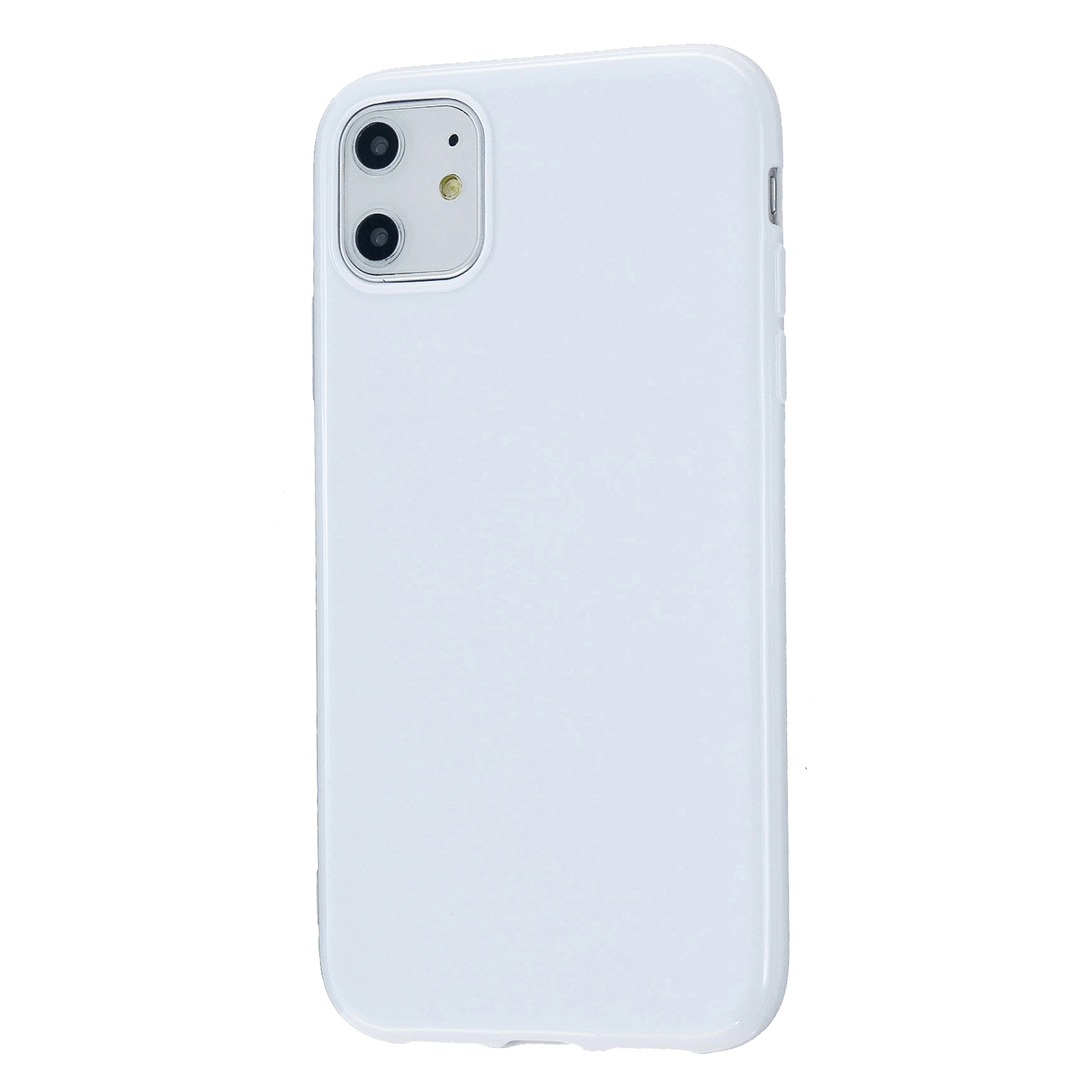 For iPhone 11/11 Pro/11 Pro Max Smartphone Cover Slim Fit Glossy TPU Phone Case Full Body Protection Shell Milk white