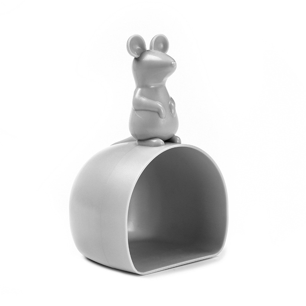 Cartoon Mouse Shaped Rice Scoop Grain Measuring  Cup Kitchen Accessories Light grey