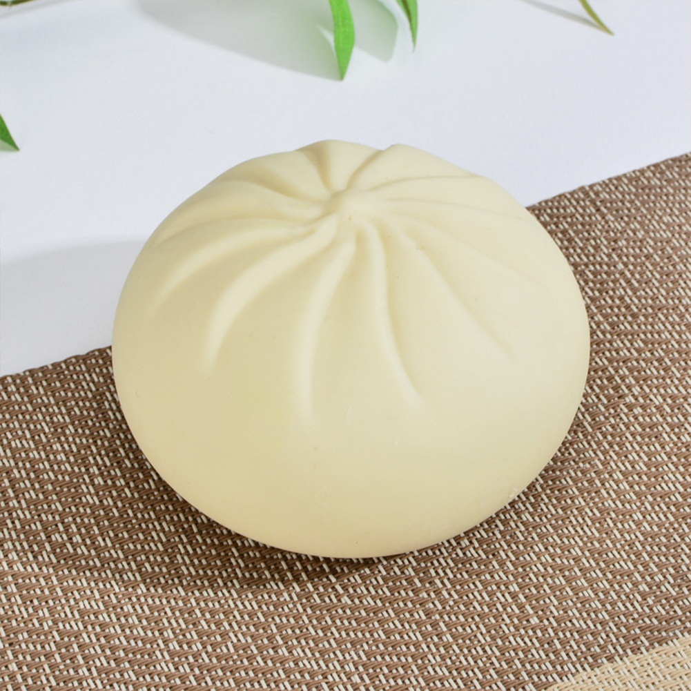 Simulation  Baozi  Steamer  Toy Cute Shape Stress Reliever Squeeze Rising Funny Toys Single Baozi