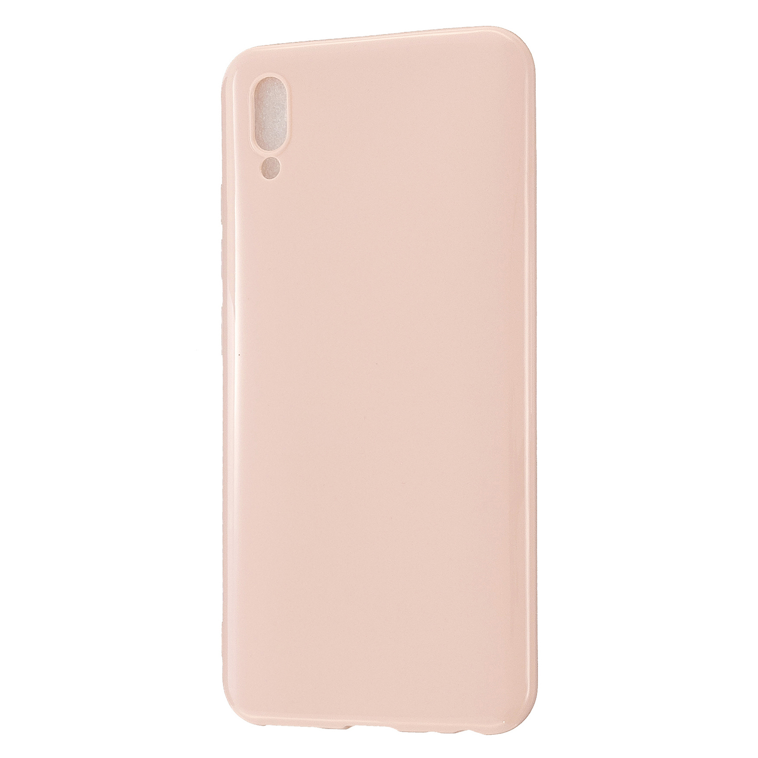 For VIVO Y93/Y95 Mobile Phone Case Glossy Finish Lightweight TPU Cellphone Cover Anti-scratch Overal Protection Shell Sakura pink