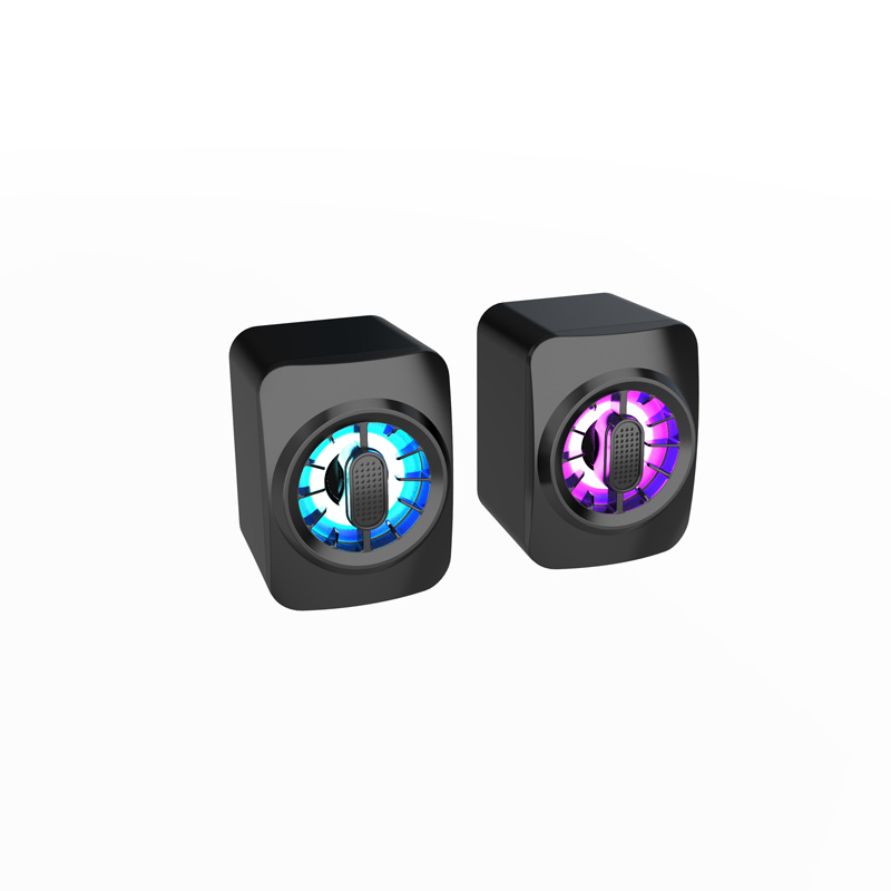 Computer Speakers Portable Speaker Powerful High BoomBox Outdoor Bass with RGB Light mini audio black