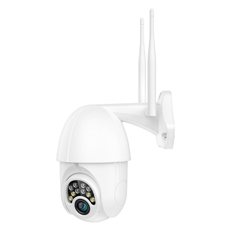 Security Dome Camera 1080P 10LED 360 Degree Rotation WiFi Wireless Remote Control Night Vision Monitor English version (EU Plug)