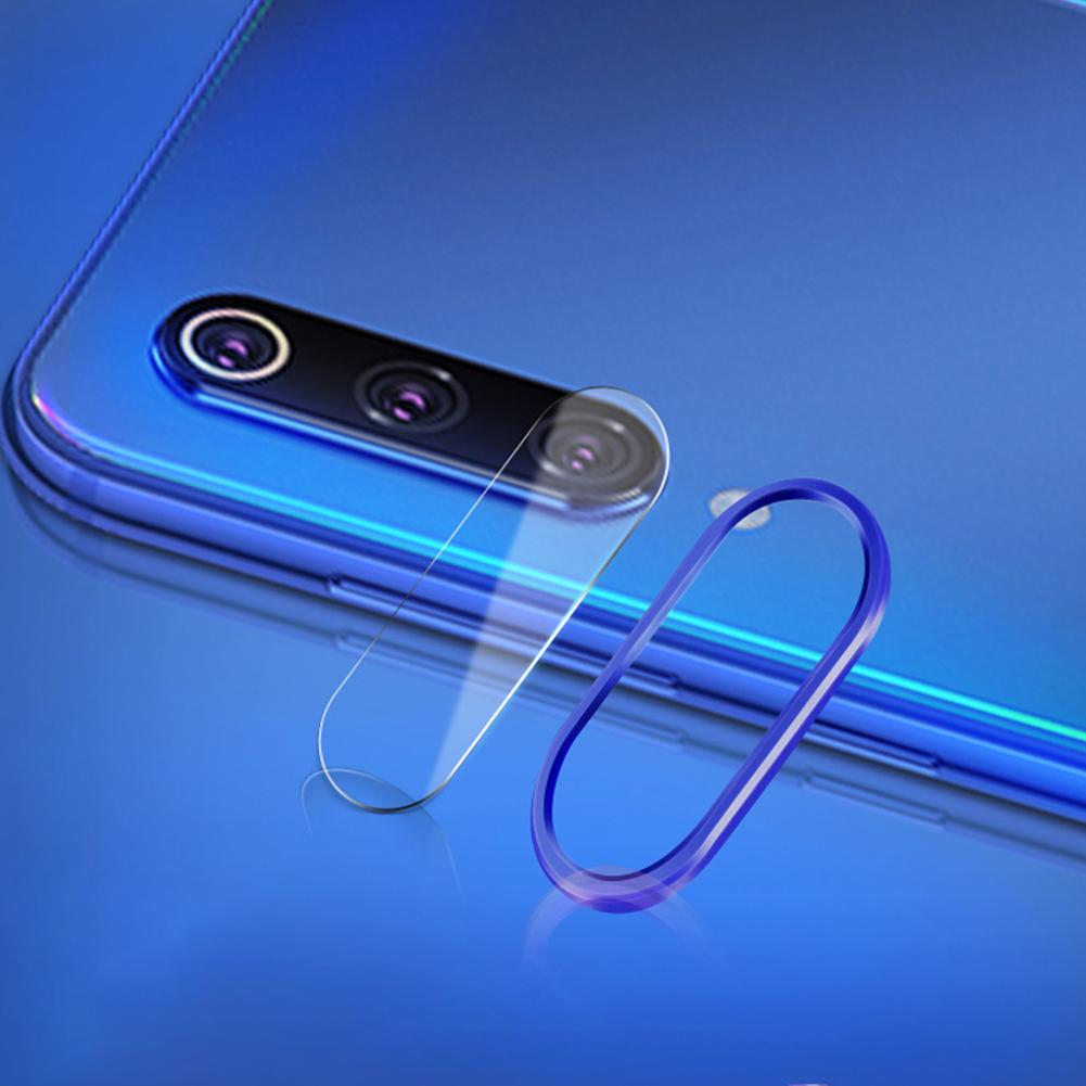 Solid Color Rear Camera Lens Protective Film+Ring for Xiaomi 9/9SE Redmi note 7pro Xiaomi 9/SE [Magic Blue]_Lens ring + lens film