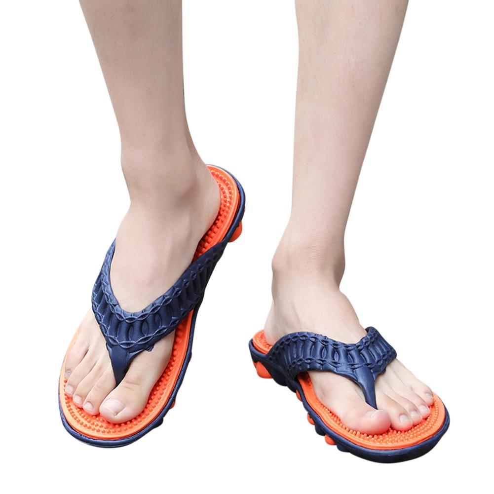Men Summer Casual Massage Sole Beach Non-slip Flip-flops