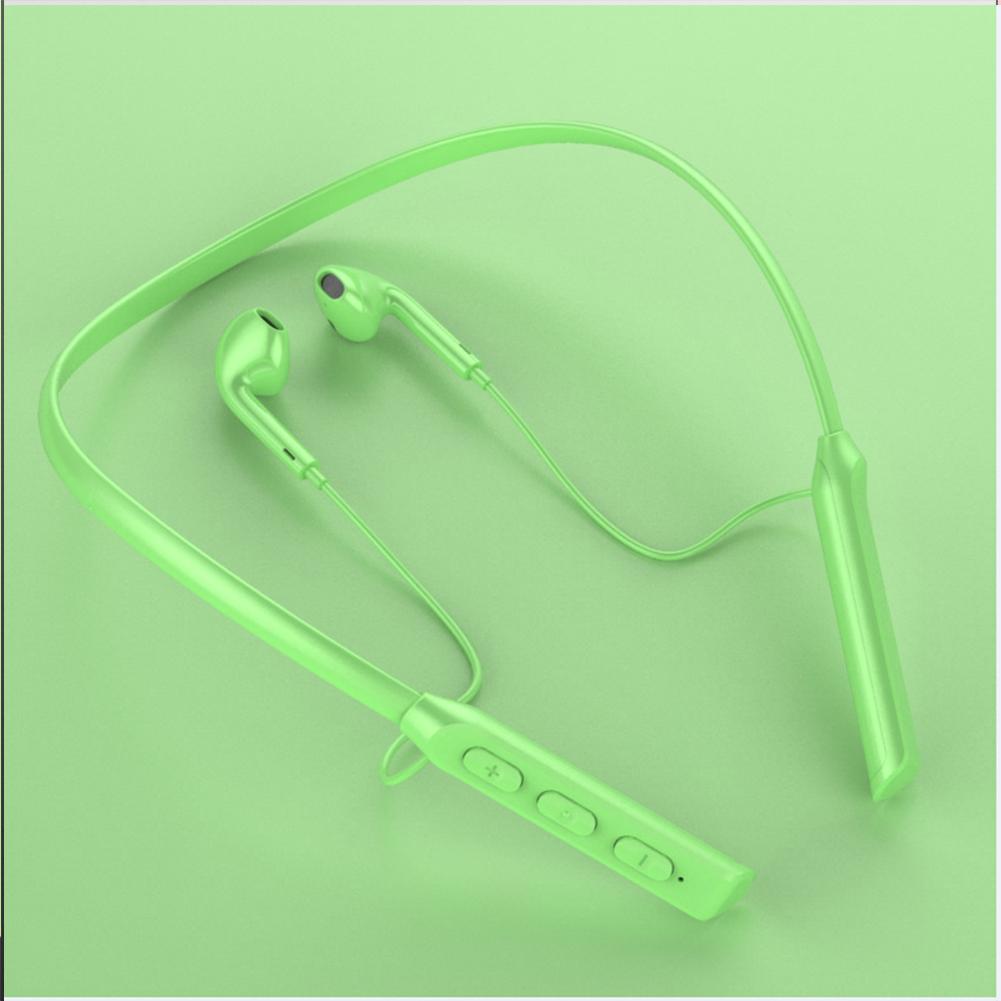 Wireless Bluetooth Headset Hanging Neck Band Anti-drop Sports Earphones yellow