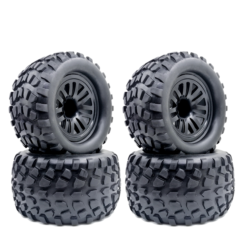 4PCS 130mm 1/10 Truck Tire & Wheel Hex 12mm For Traxxas Tamiya Kyosho HPI HSP Savage XS TM Flux LRP 4PCS