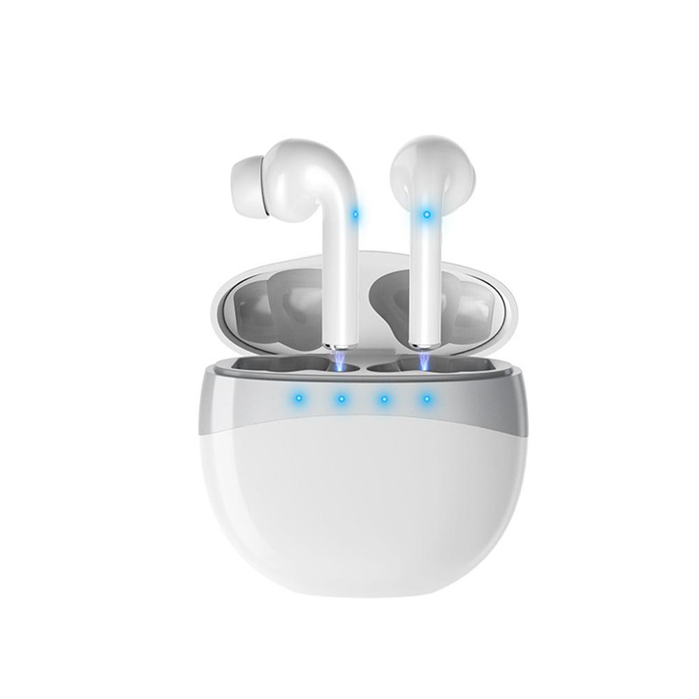 M19 Bluetooth Headset Digital Sports Earphones Waterproof With Mic Noise Reduction Earphones white