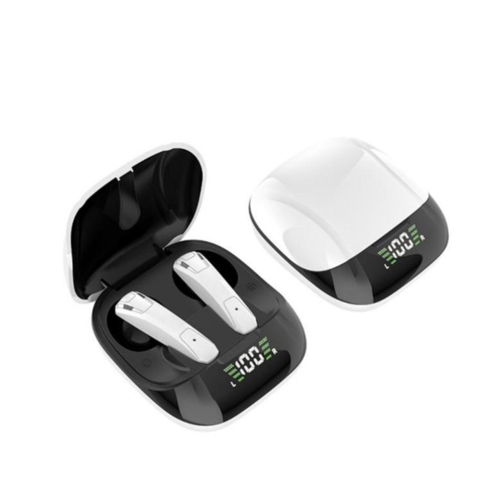 E68 Wireless Bluetooth Headset Sport Tws Waterproof Mini Wireless Earphone Digital Display Stereo Music white