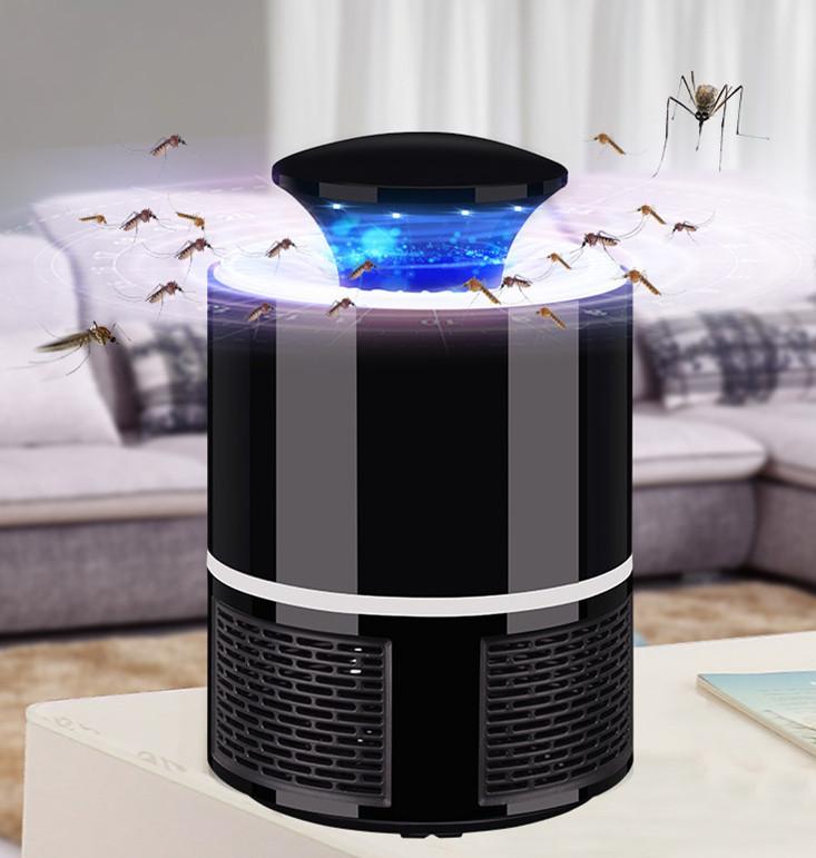 5V 5W LED USB Charging Photocatalyst No Radiation Mosquito Killer Lamp Large black