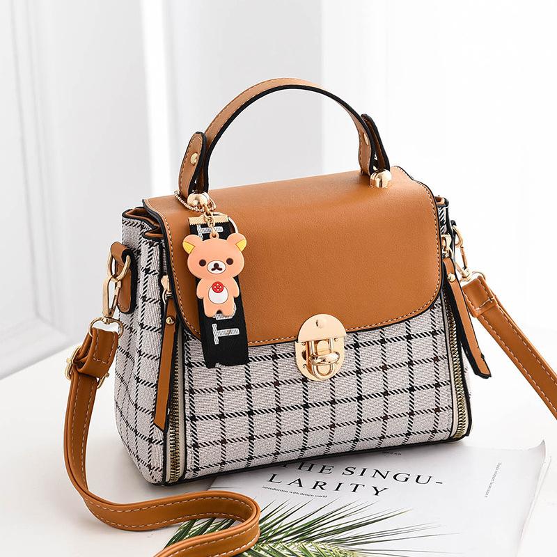 Women Fashion All-match Lattice Square Handbag Messenger Crossbody Shoulder Bag