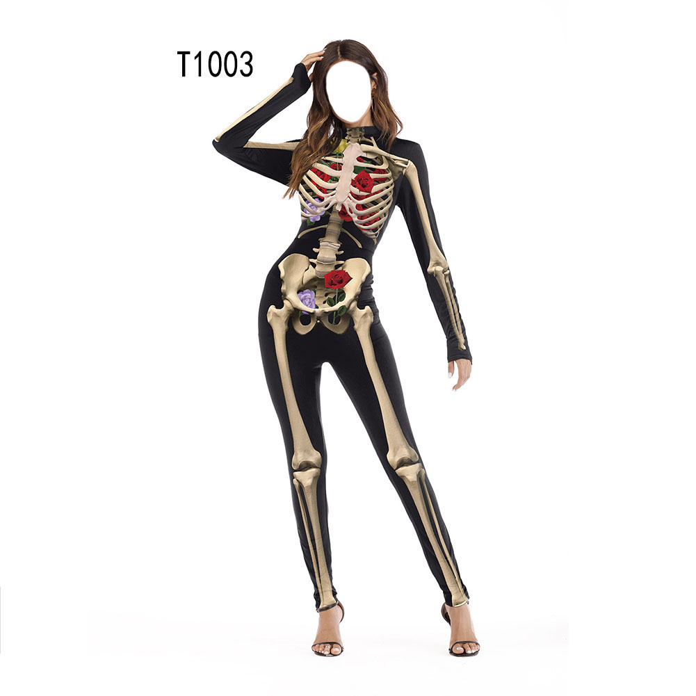 Female Slim Jumpsuits Long Sleeve Cosplay Custome for Halloween Party Festival  T1003_S/M