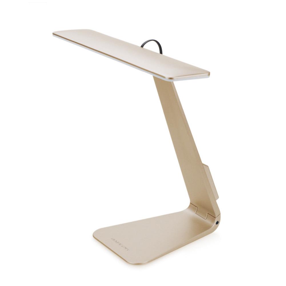 Super Thin LED Desk Lamp Stylish Usb-charged Reading Folding MAC Desk Lamp Student Dormitory Study Simple Table Lamp Gold-foldable base_238 * 132 * 215mm