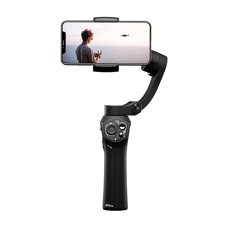 Atom 3-Axis Foldable Pocket-Sized Handheld Gimbal Stabilizer for iPhone black