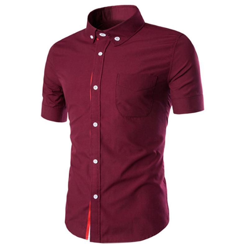 Summer Male Casual Short-sleeve Shirt