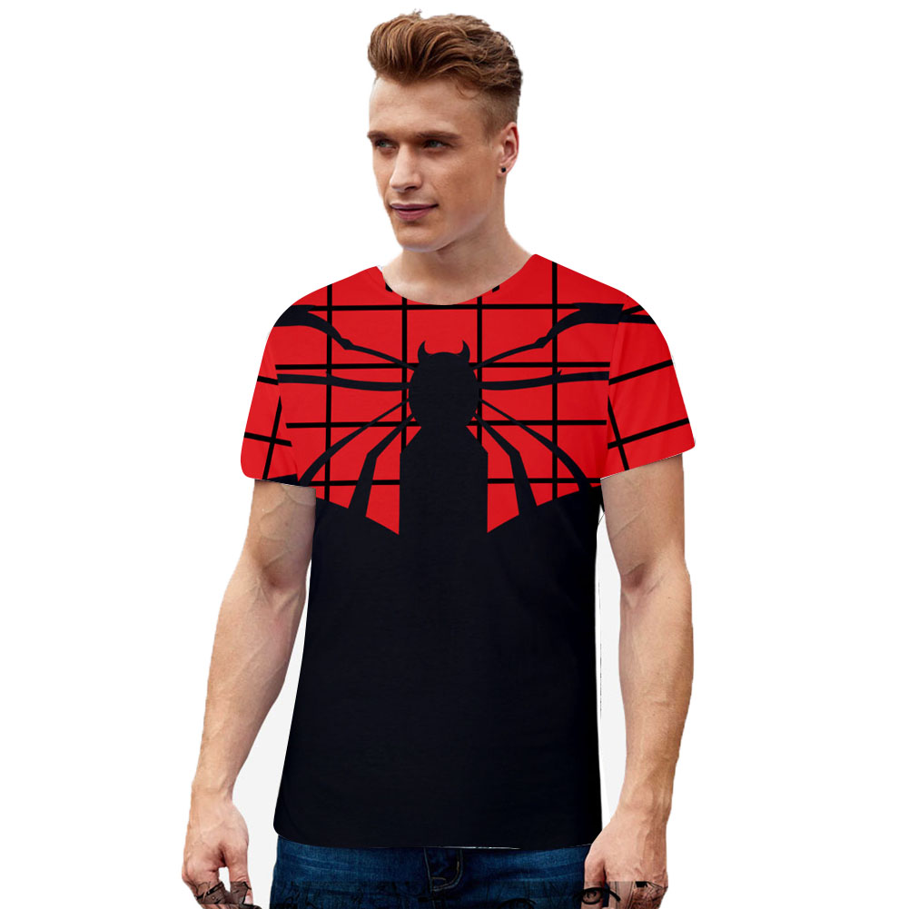 Men Women Summer Cool Marvel Movies Spiderman 3D Printing Berathable Short Sleeve T-shirt  C_M