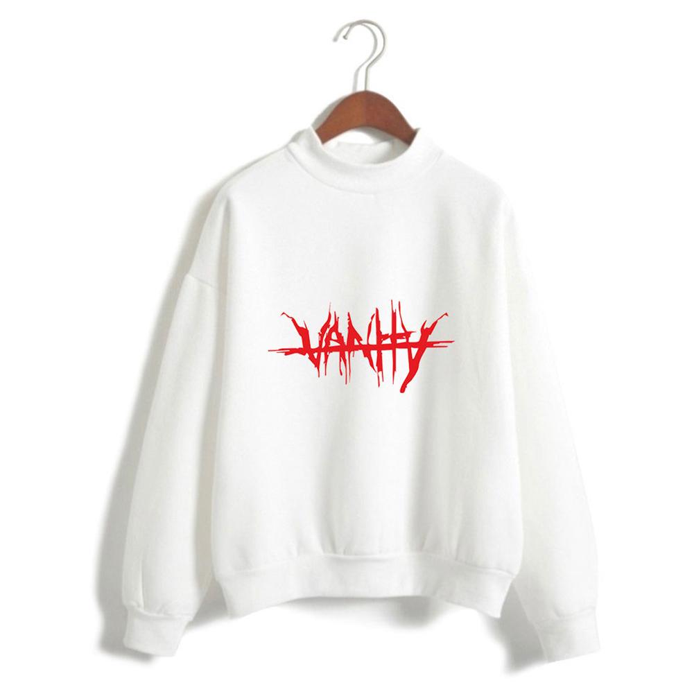 Men Women Couple Fashion Printed Fashion Casual Turtleneck Sweater Tops 2#_XL