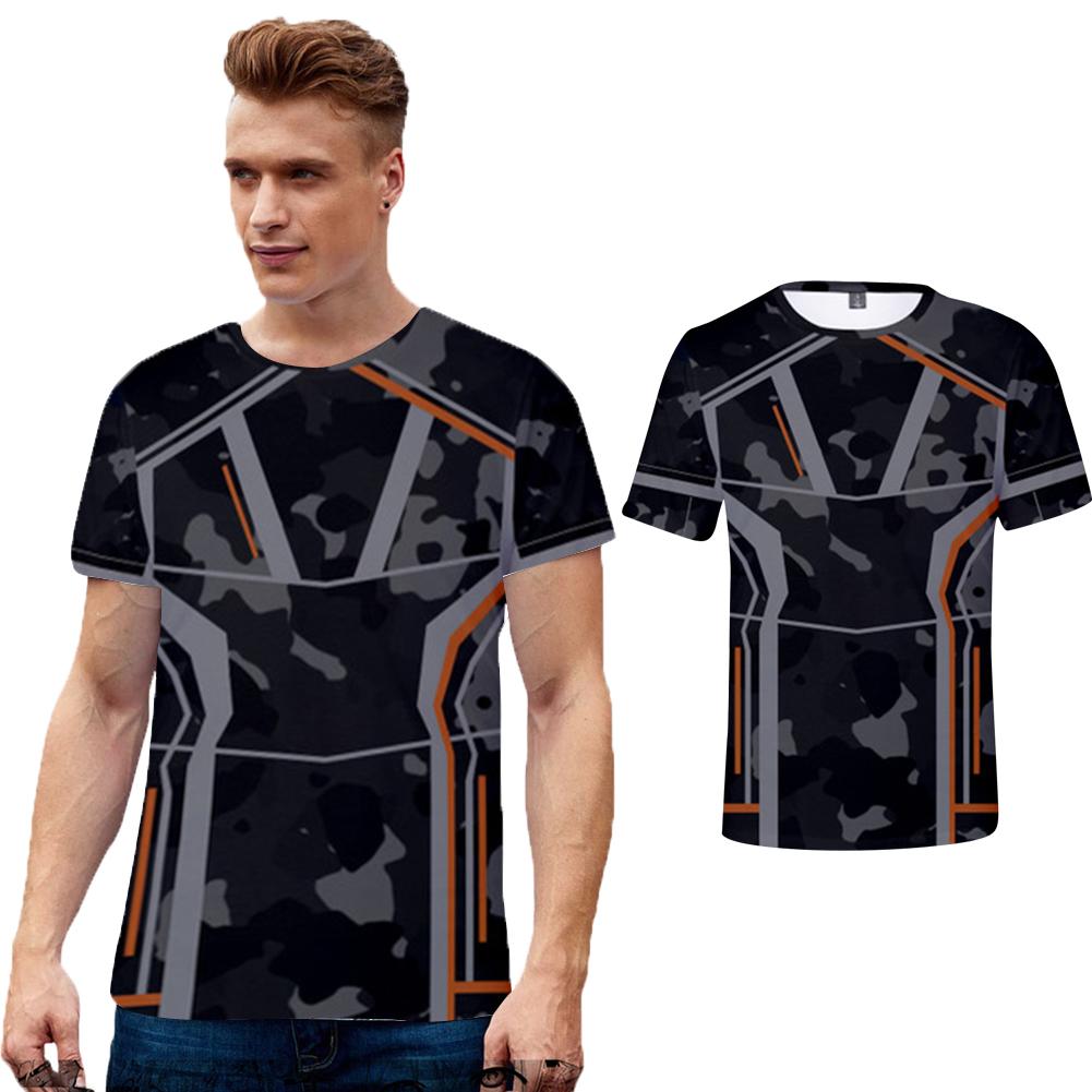 Summer Avengers 3 Endgame Quantum 3D Digital Printed Short Sleeve T-shirt Q-4836-YH01_L