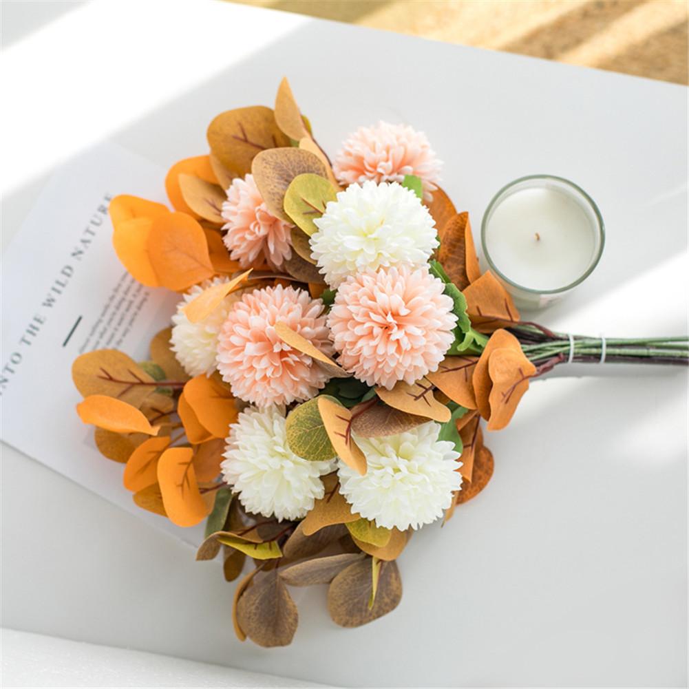 Artificial Flowers Simulate Bouquet for Home Living Room Resturant Decor Orange
