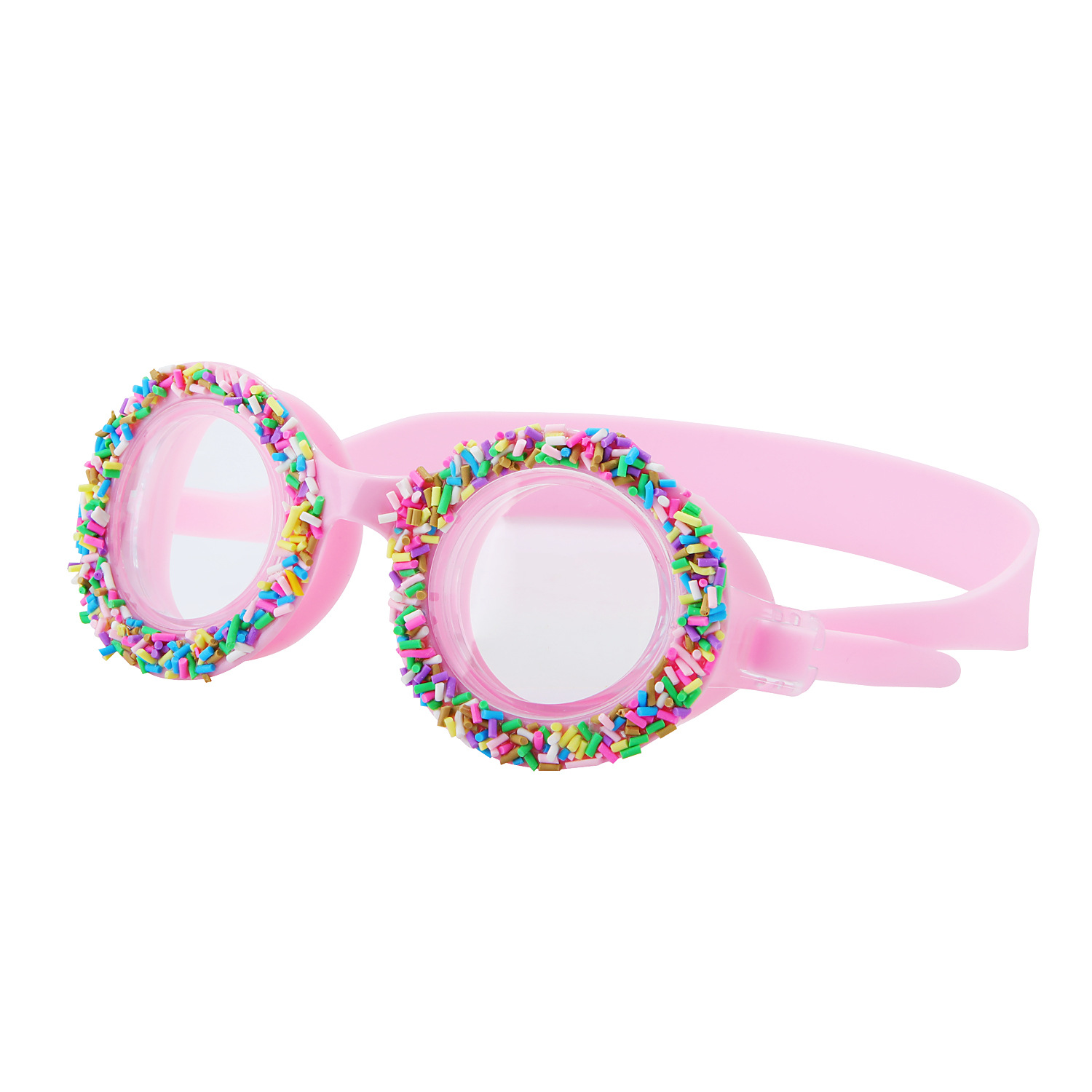 Kids Swimming Glasses Silicone Waterproof Anti-fog Eyes Protection Goggles Pink