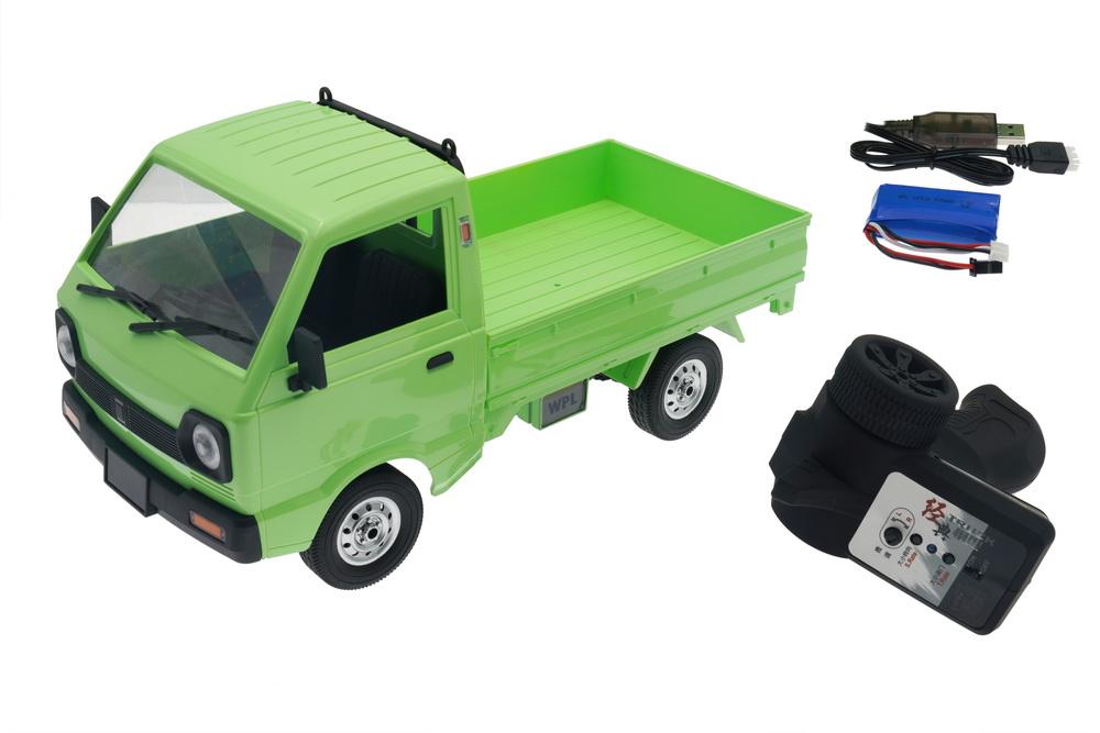Wpl D12 Carry 1/10 4wd Simulation Drift Truck Climbing Car Led Light Rc Car Toys Boys Kids Gifts 1 battery