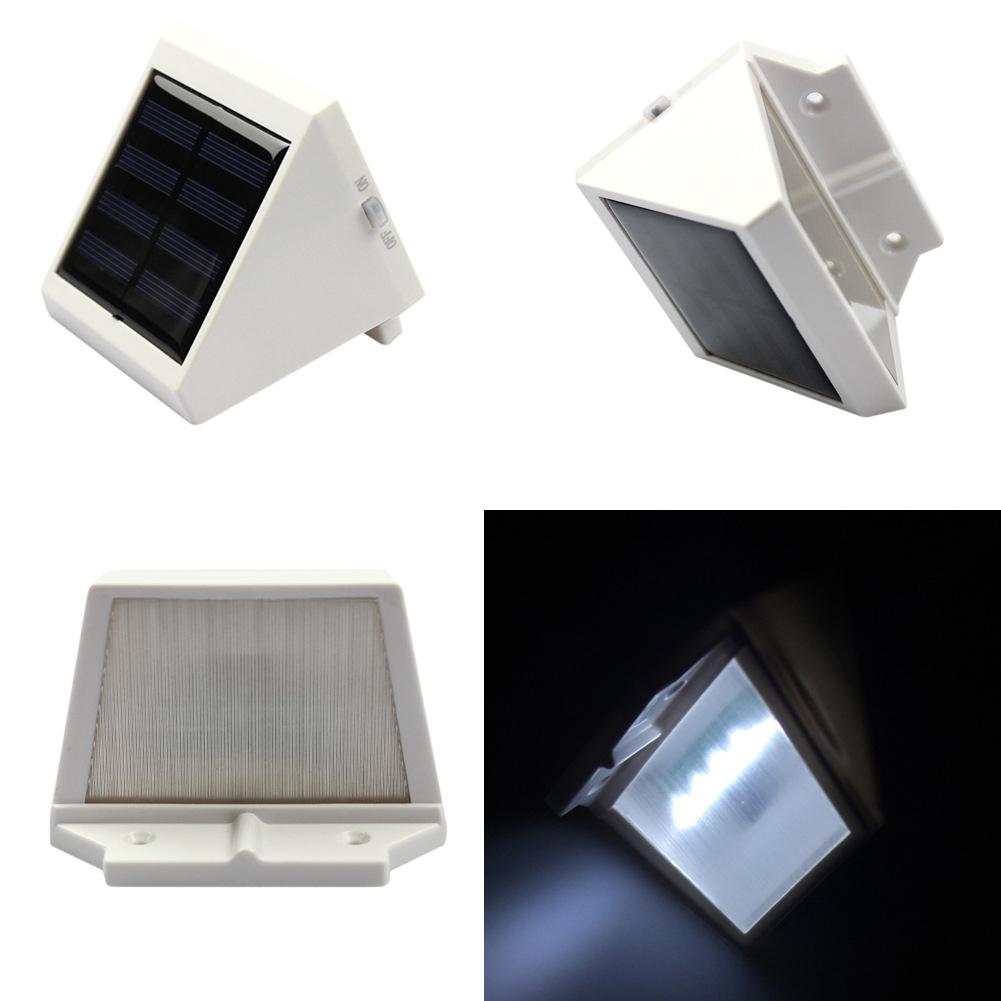 4 LEDs Environmental Outdoor Solar Power Garden Corridor Street Triangle Wall Light Lamp