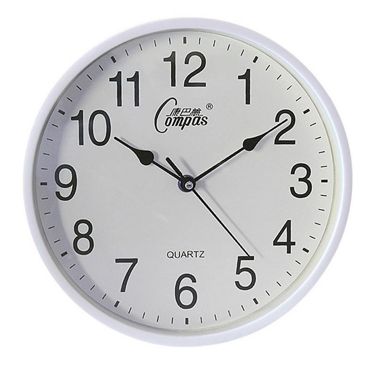 10inch Wall Clock Round Mute Quartz Clock Fashion Living Room Home Office Decoration white