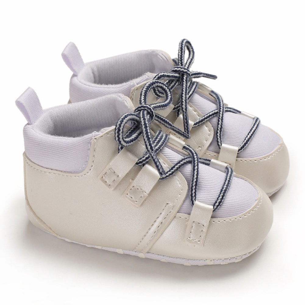 0-1 Years Baby Infant Boys Soft Sole Fashion Baby Shoes Casual Sports Shoes white_12 cm inside length