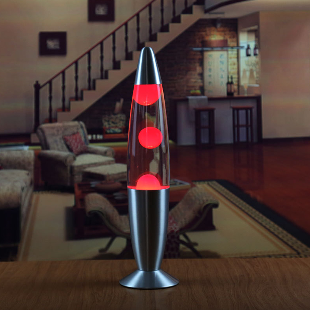 Metal Base Wax Lava Lamp Night Light for Bedroom Decor European Regulation