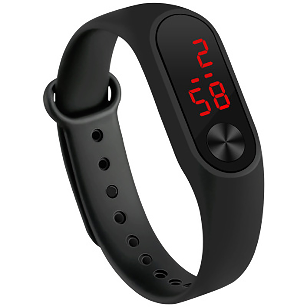 [Indonesia Direct] LED Simple Watch Hand Ring Watch Led Sports Fashion Electronic Watch black