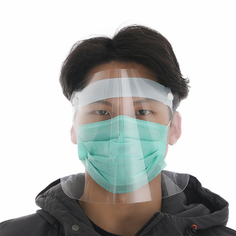 [Indonesia Direct] Full Face Dust-Proof Transparent Mask Anti-Droplet Kitchen Cooking Visor Shield Transparent_Approximately 25 * 20cm
