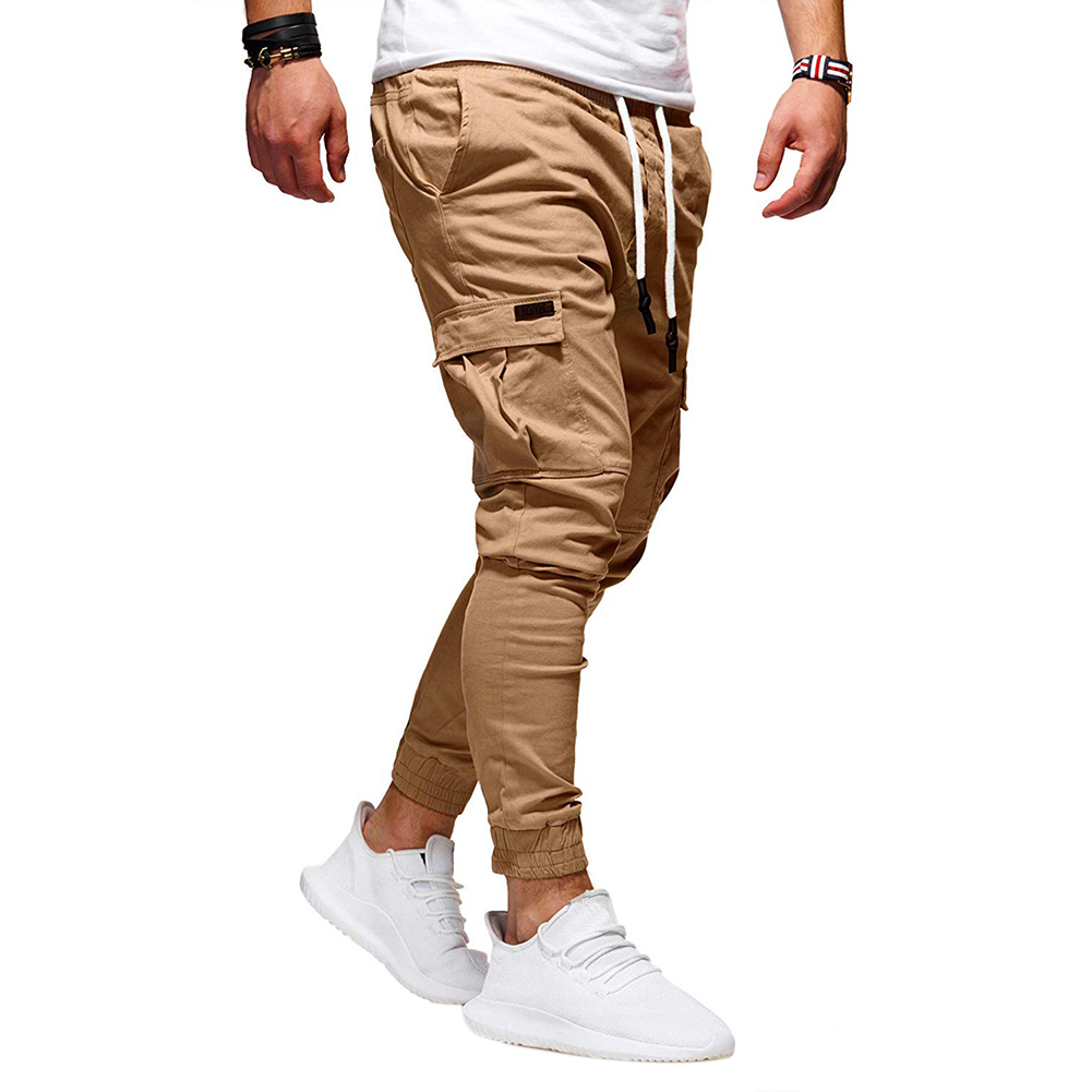 Men Casual Slacks Soft Sports Jogging Pants