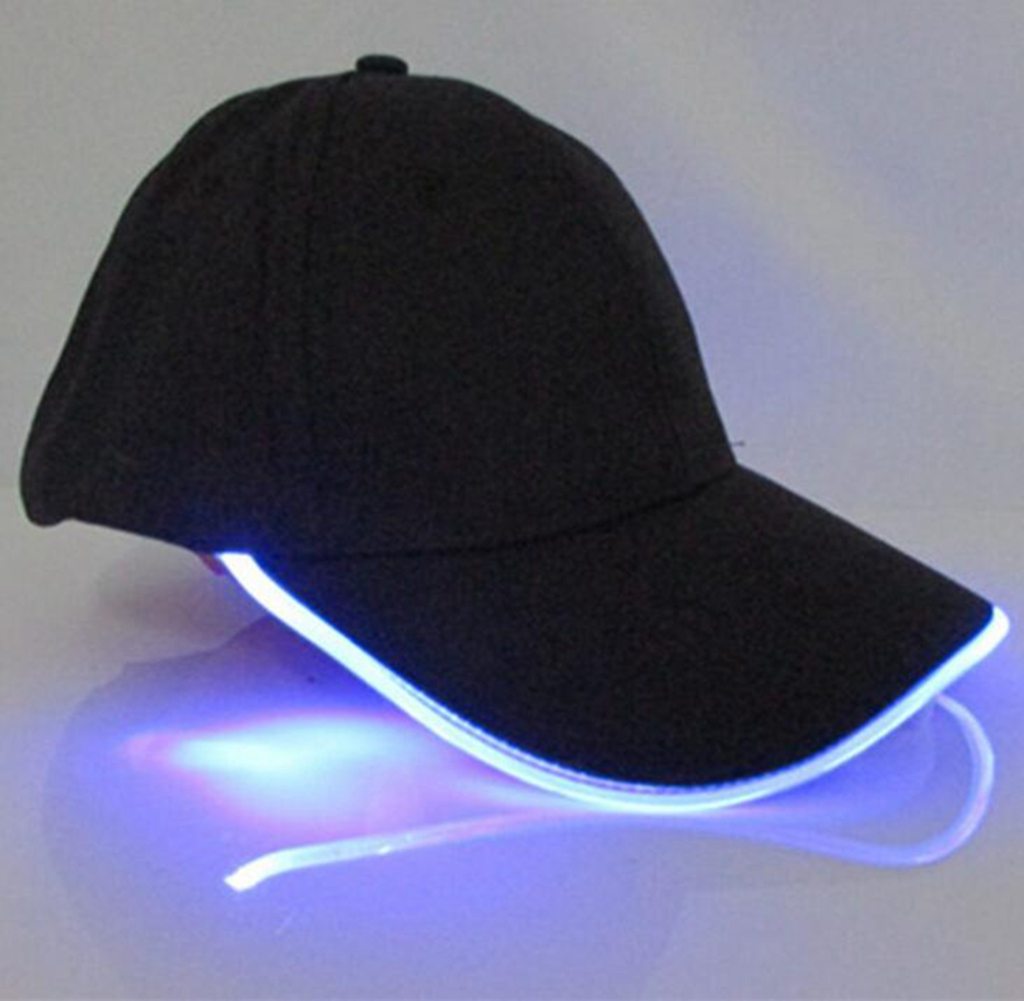 LED Light Fabric Travel Hat Cap
