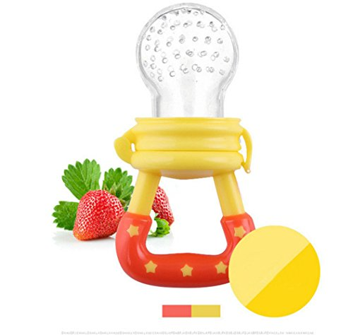 [EU Direct] Baby vegetables and fruits bite pacifier yellow L